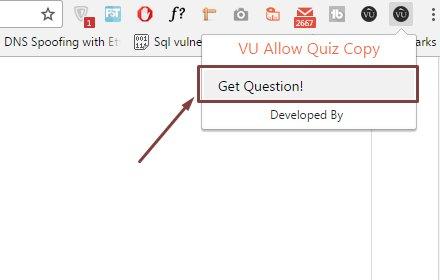 VU Allow Quiz Copy插件截图