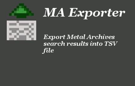 Metal Archives Exporter插件截图
