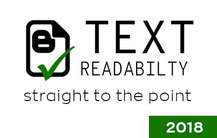 TRAY Readability tool插件截图