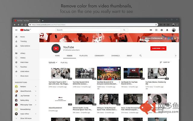 GreyTube - distraction free YouTube