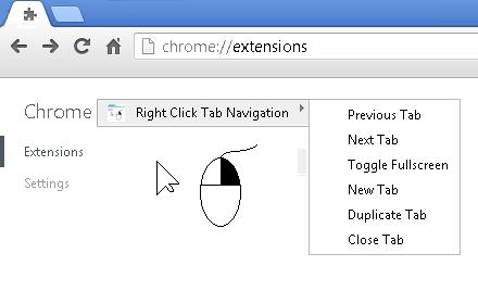 Right Click Tab Navigation插件截图
