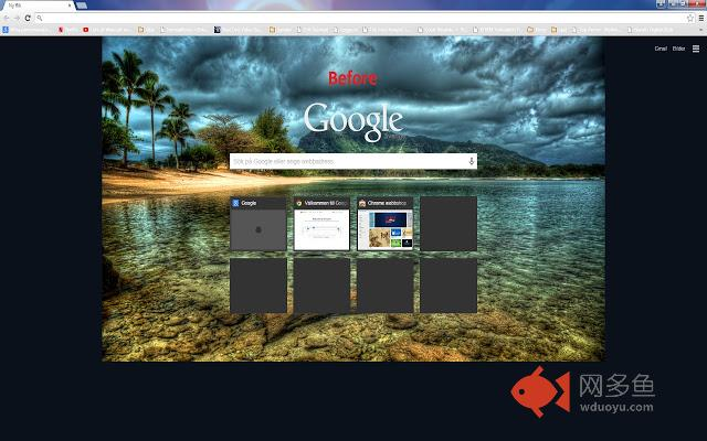 New Tab Page Background Image Fit Window插件截图