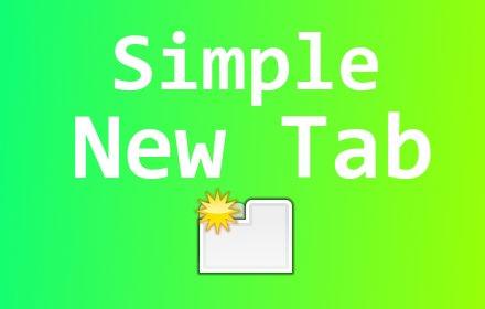 Simple New Tab插件截图