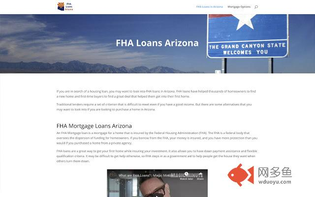 FHA Mortgage Arizona