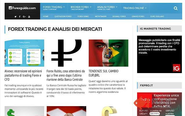 Forexguida.com La guida al forex in italiano插件截图