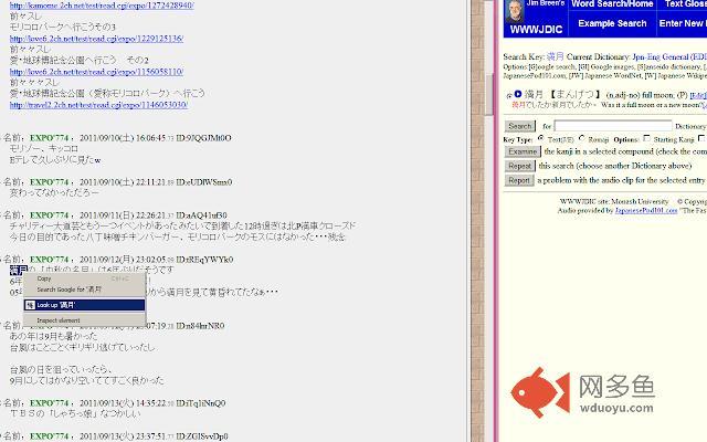 Japanese Lookup插件截图