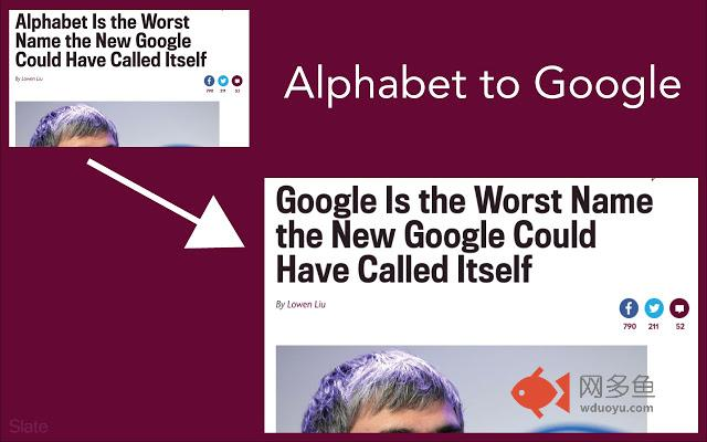 Alphabet to Google插件截图