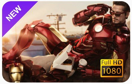 Iron Man New Tab & Wallpapers Collection插件截图