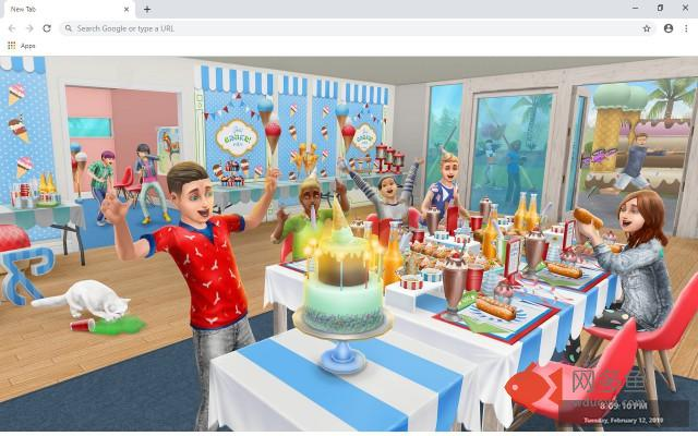 The Sims Free Play New Tab