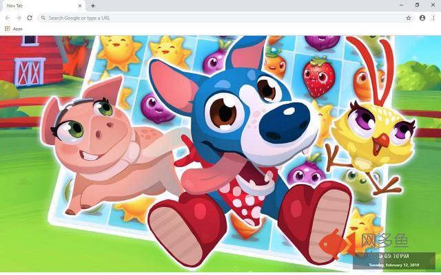 Farm Heroes Saga New Tab Theme