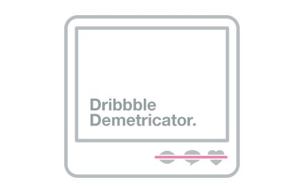 Dribbble Demetricator插件截图