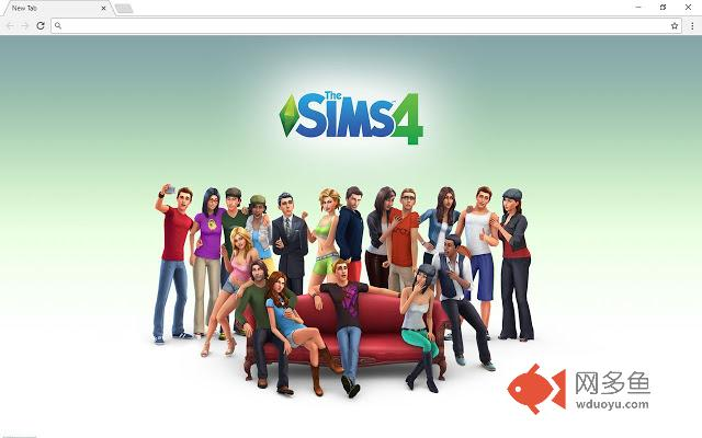 Sims 4 New Tab Page