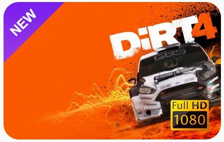 Dirt 4 New Tab & Wallpapers Collection插件截图