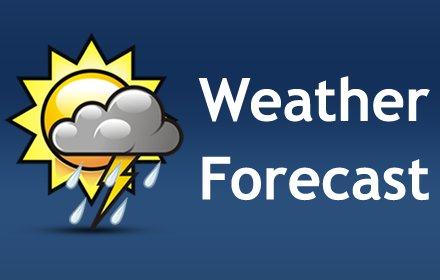 天气预报插件截图