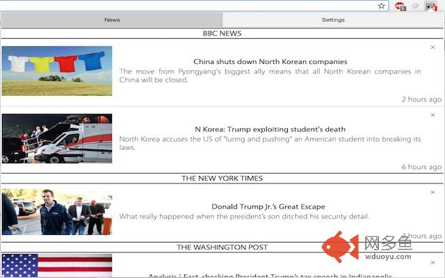 News Tracker插件截图