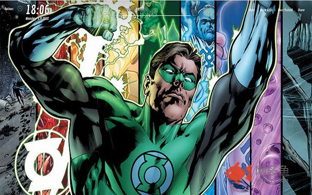 Green Lantern Wallpapers HD for NewTab插件截图