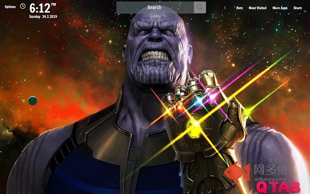 Avengers Endgame Thanos New Tab插件截图