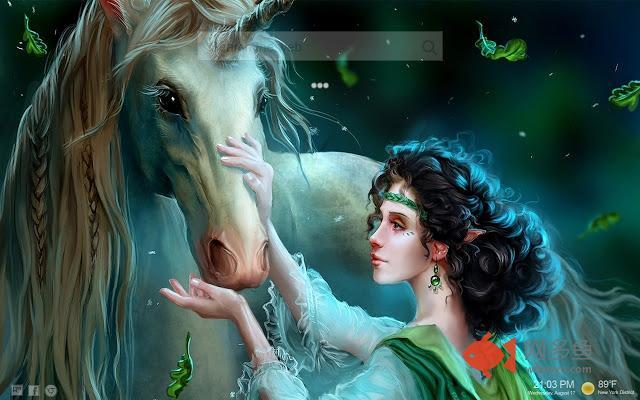 Unicorns New Tab HD Themes