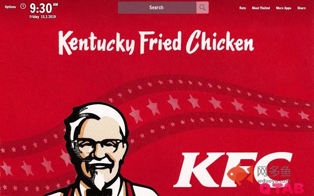 KFC New Tab KFC Wallpapers插件截图