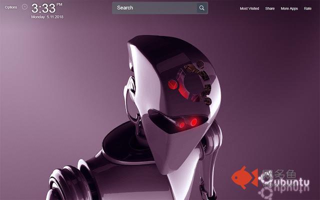 Ubuntu Wallpapers Theme New Tab插件截图