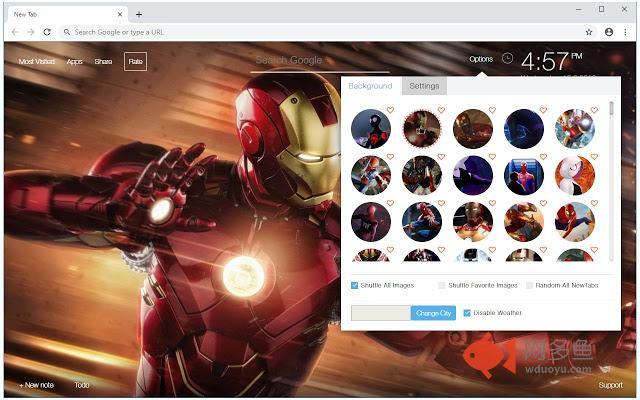 Spiderman & Iron Man HD Wallpapers New Tab