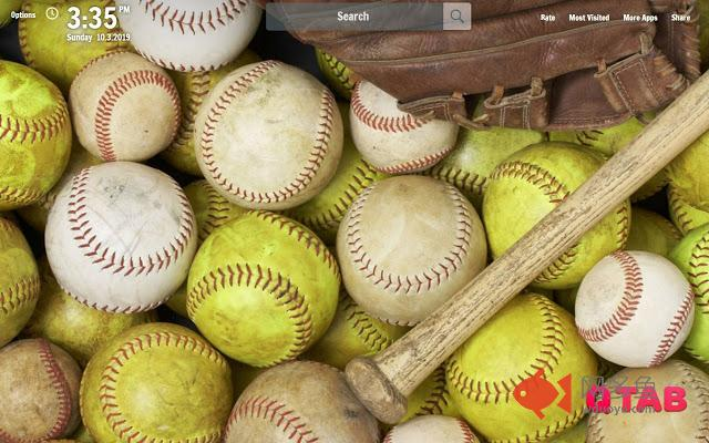 Softball New Tab Softball Wallpapers插件截图
