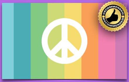 Peace Signs New Tab Theme插件截图