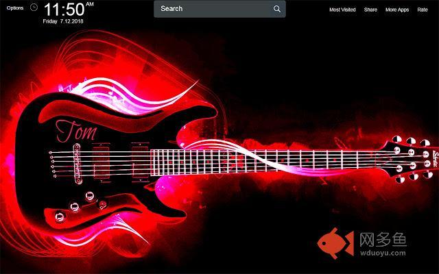 Guitar Wallpapers Theme New Tab插件截图