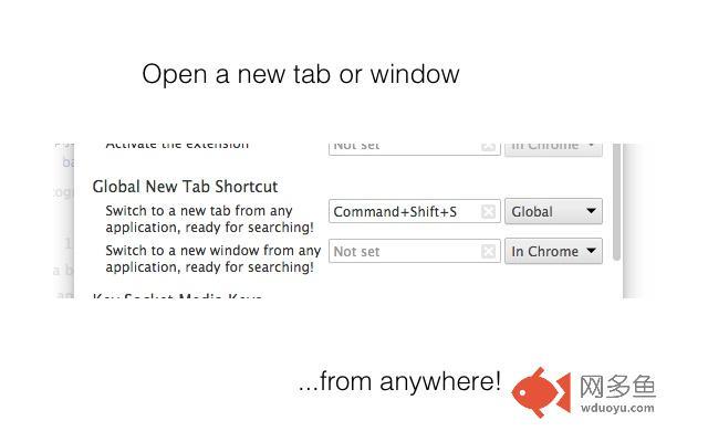 Global New Tab Shortcut插件截图