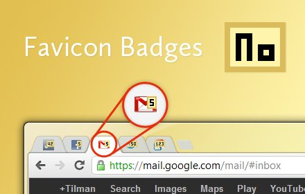 Favicon Badges插件截图