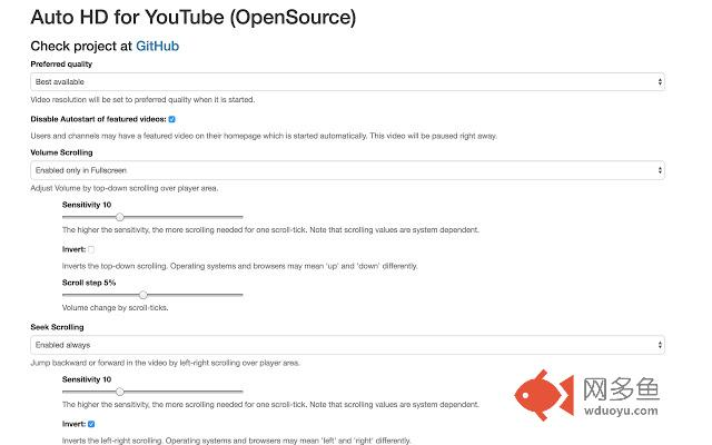 Auto HD for YouTube (OpenSource)