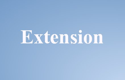 Extensions button插件截图
