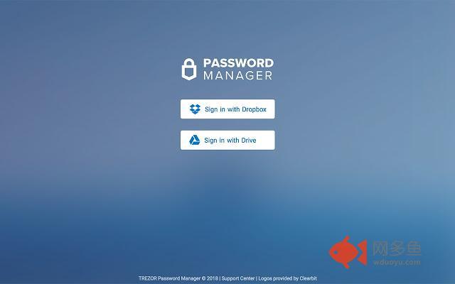 TREZOR Password Manager插件截图