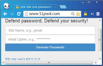One Site One Password插件截图