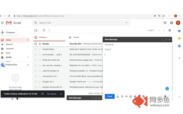 WritingAssistant for Chrome