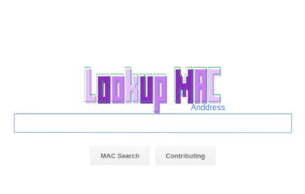Lookup MAC Address插件截图