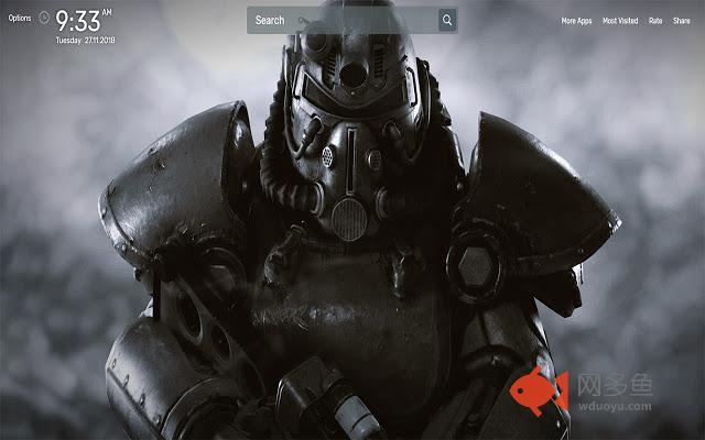 Fallout 76 Wallpapers NewTab Theme插件截图
