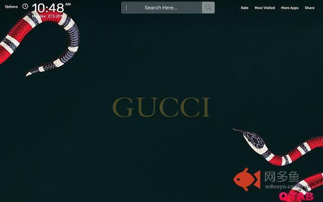 Gucci Wallpaper HD Theme插件截图