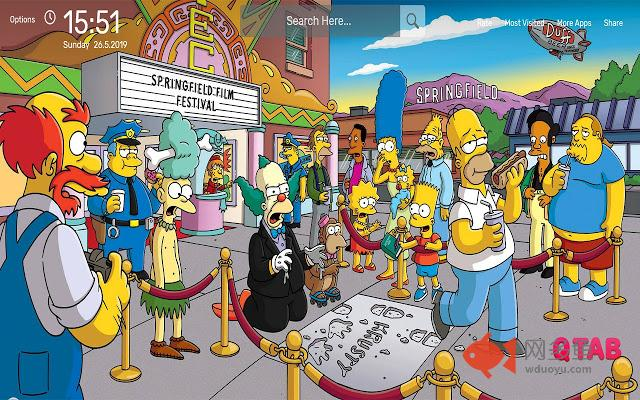 The Simpsons Wallpapers HD Theme