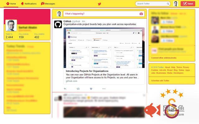 Galatasaray Twitter Theme插件截图