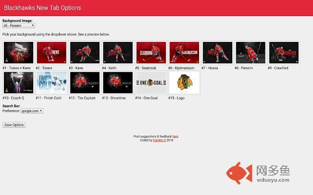 Blackhawks New Tab插件截图